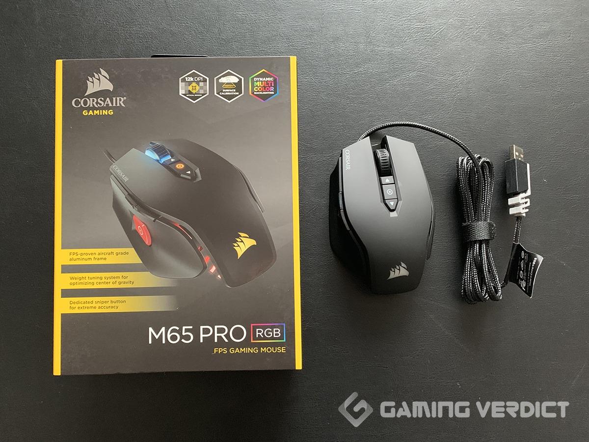 corsair m65 gaming mouse box
